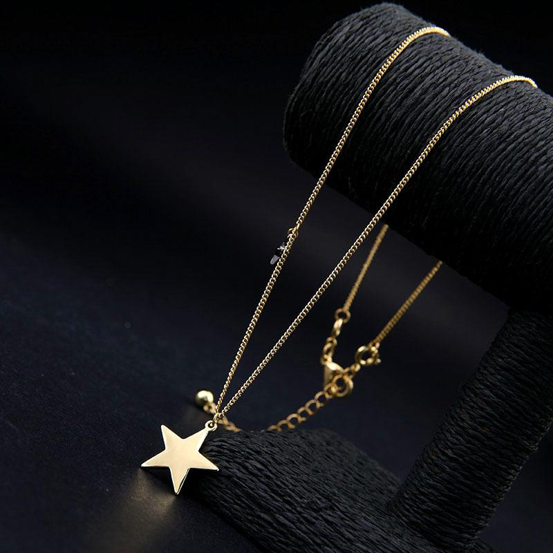 Multilayered Star Pendant Necklace necklace Vinty Jewelry