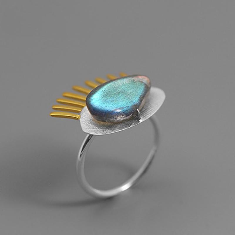 My Eyes Labradorite Ring ring Vinty Jewelry