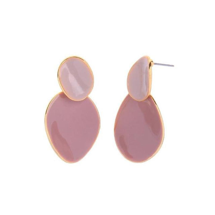 Pastel Colored Abstract Drop Earrings earrings Vinty Jewelry Pink