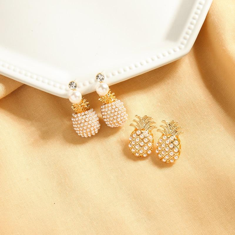 Pearl Pineapple Earrings earrings Vinty Jewelry