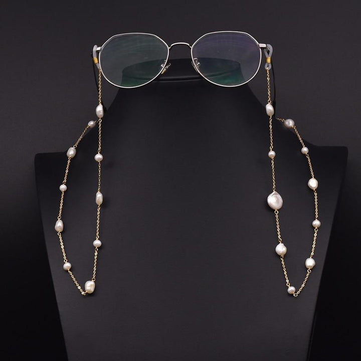 Pearl Sunglass and Face Mask Chain earrings Vinty Jewelry