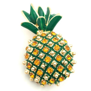 Pineapple Brooch With Sparkling Rhinestones brooch Vinty Jewelry