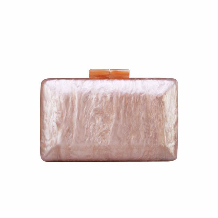 Pinkish Marble Acrylic Box Bag bag Vinty Jewelry