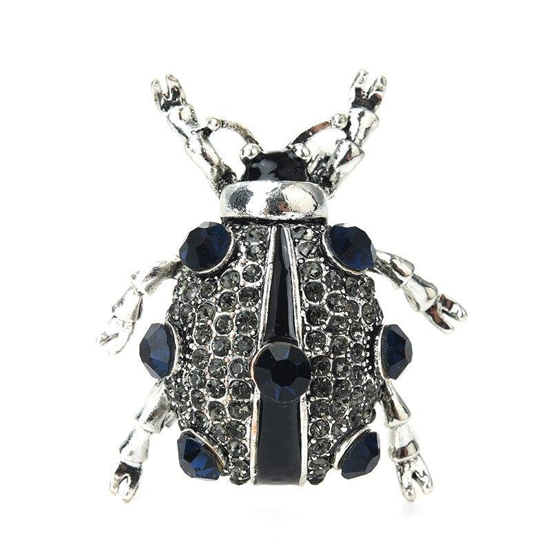 Polka-Dotted Beetle Brooch brooch Vinty Jewelry silver