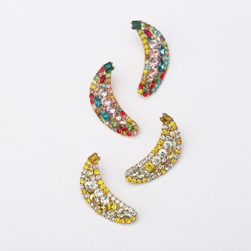 Rhinestone Banana Earrings earrings Vinty Jewelry