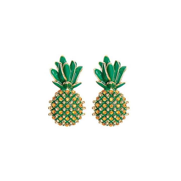 Rhinestone Pineapple Drop Earrings earrings Vinty Jewelry