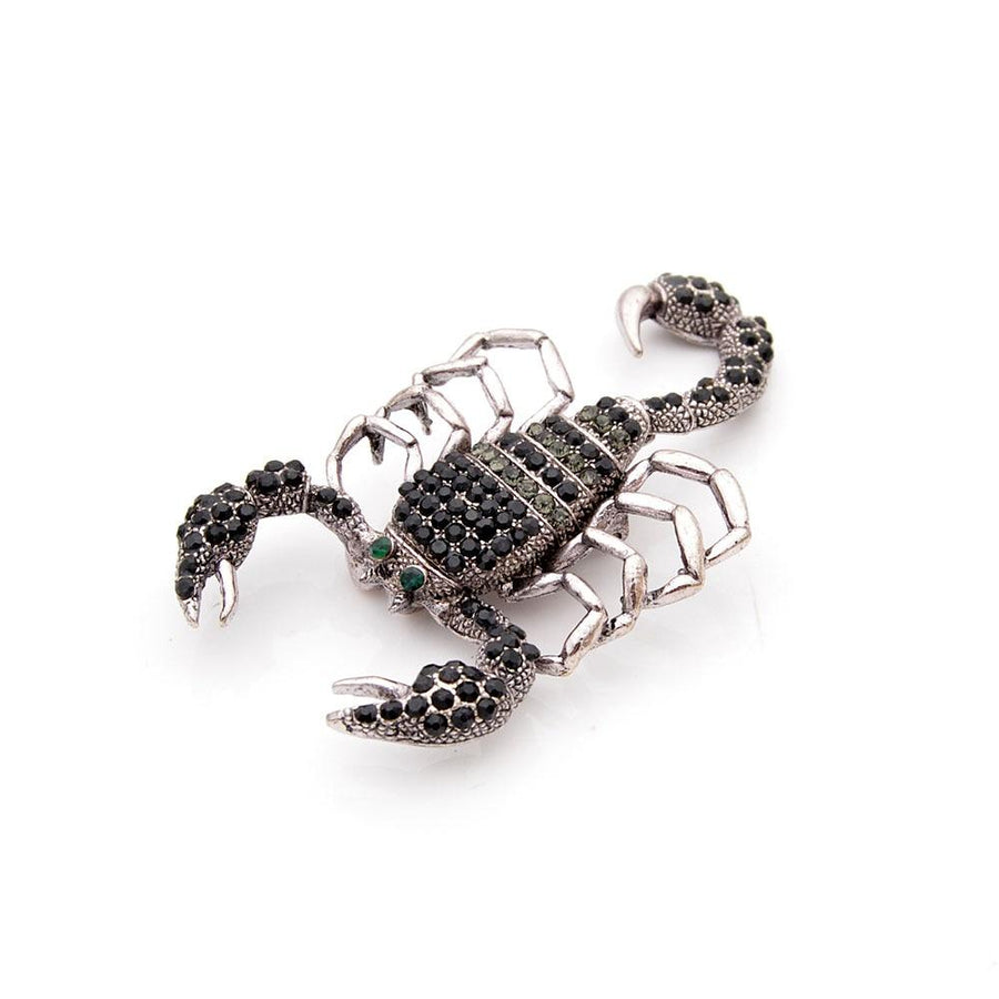 Scorpion Brooch With Rhinestones BROOCH Vinty Jewelry
