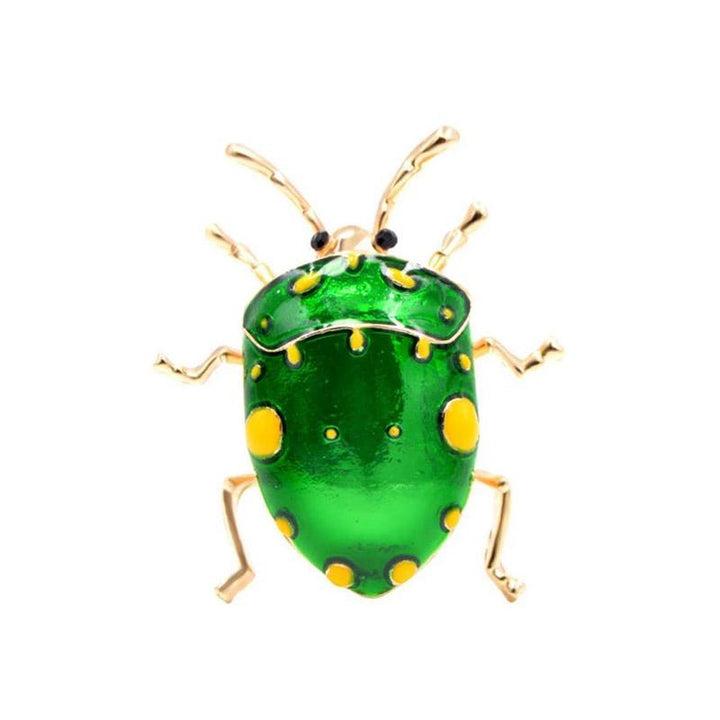 Shiny Green Harlequin Bug Brooch BROOCH Vinty Jewelry