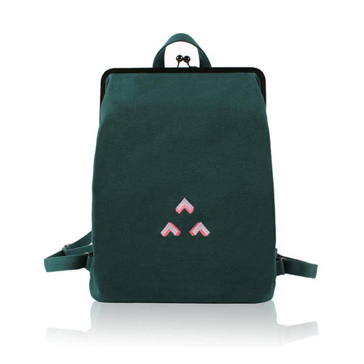 Simple Embroidery Daily Backpack bag Vinty Jewelry