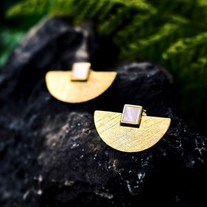 Simple Geometric Drop Earrings earrings Vinty Jewelry Gold