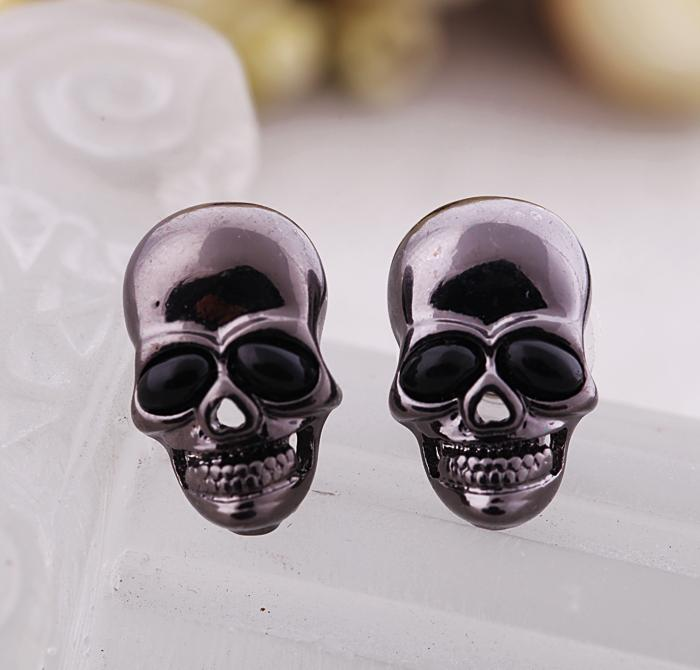 Skull Stud Earrings earrings Vinty Jewelry