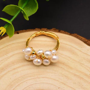 Stacked Freshwater Pearl Ring ring Vinty Jewelry 11