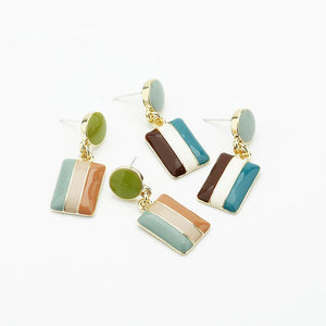 Striped Dangle Earrings earrings Vinty Jewelry