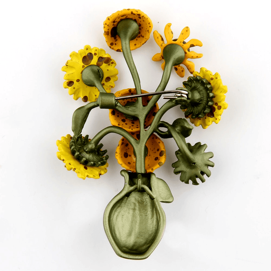 Sunflowers In A Vase Brooch brooch Vinty Jewelry