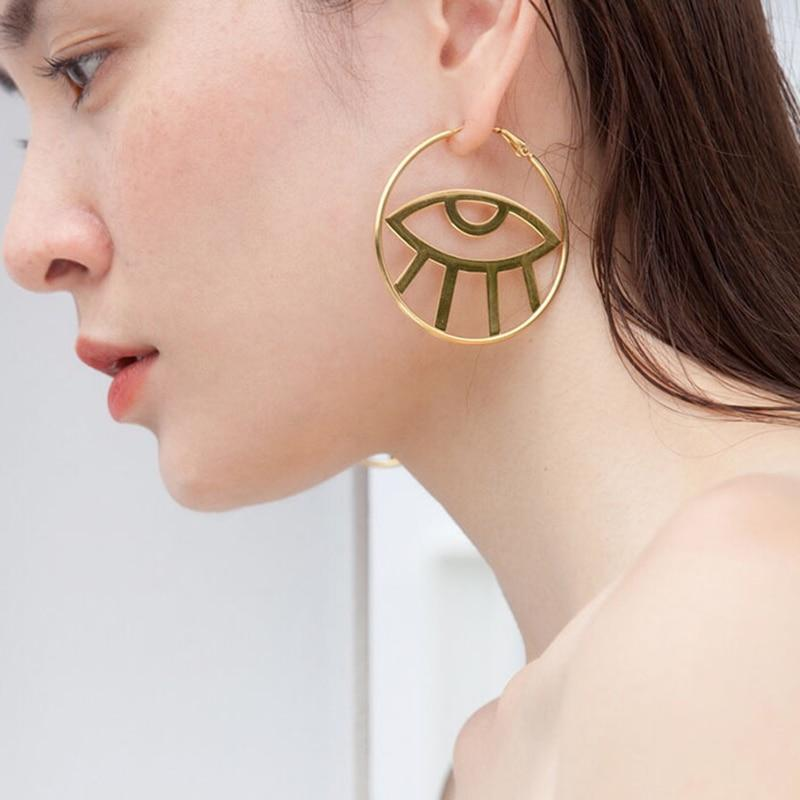 The Eye in the Hoop Earrings earrings Vinty Jewelry