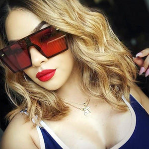 THE MEGAN - Oversized Square Sunglasses Women sunglasses Vinty Jewelry