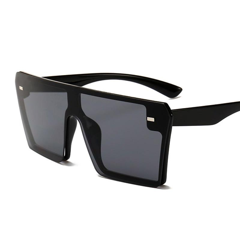 THE MEGAN - Oversized Square Sunglasses Women sunglasses Vinty Jewelry Black