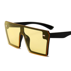 THE MEGAN - Oversized Square Sunglasses Women sunglasses Vinty Jewelry Yellow