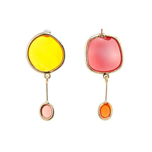 Transparent Round Dangle Earrings earrings Vinty Jewelry