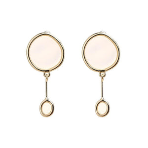 Transparent Round Dangle Earrings earrings Vinty Jewelry white