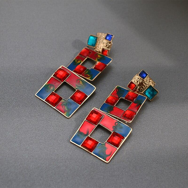 Triple Square Statement Earrings earrings Vinty Jewelry