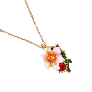 Tropical Flower Pendant Necklace necklace Vinty Jewelry