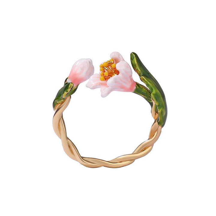Tropical Flower Ring ring Vinty Jewelry