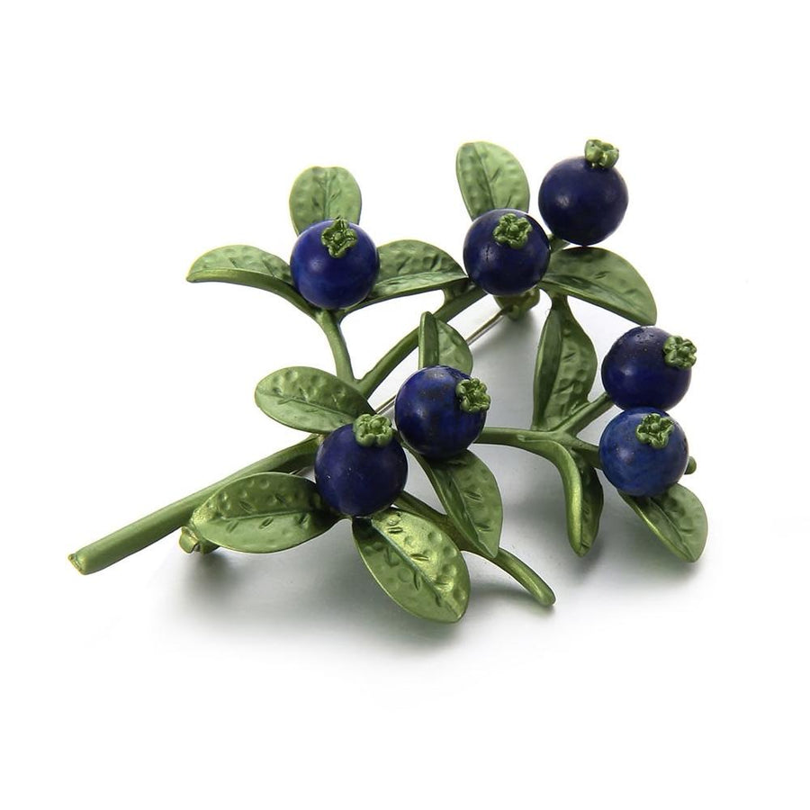 Vintage Style Blueberry Brooch brooch Vinty Jewelry
