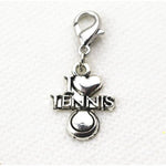 """I Love Tennis"" Silver Plated Jewelry"