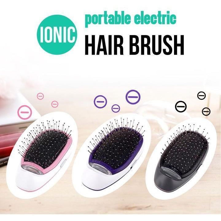 Having a messy hair day with a lot of flyaways, frizzy hair and static? This is now an ideal opportunity to boost your hair with the ByeBadHair® - Portable Electric Ionic Hairbrush.