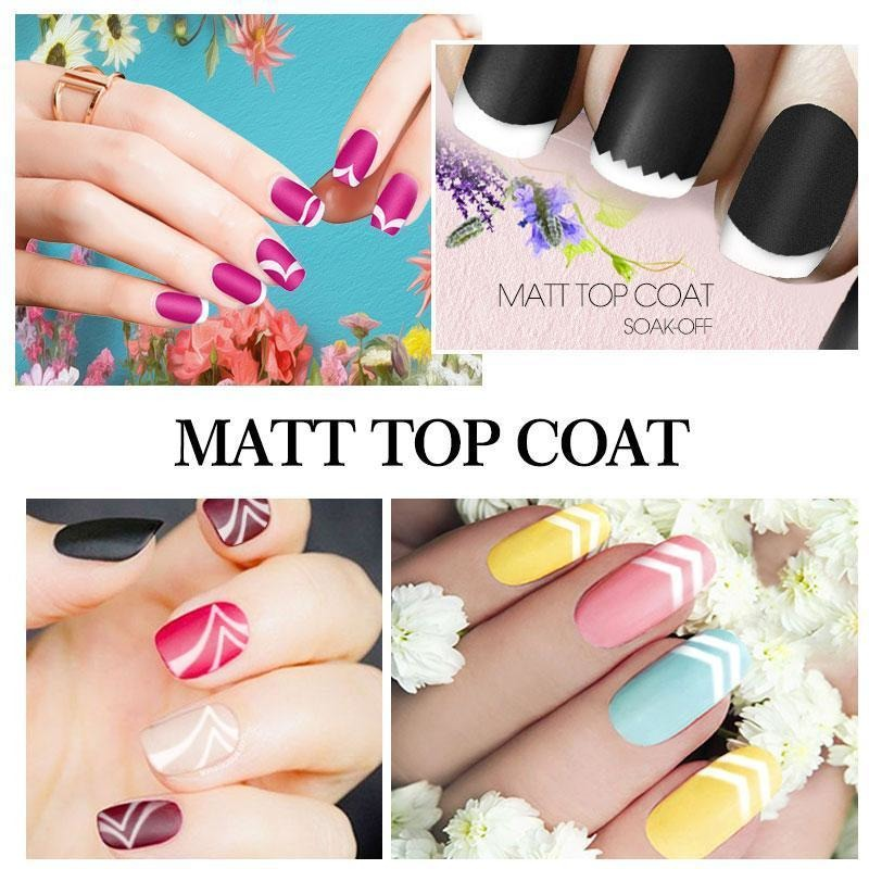 Azure Beauty 8ml Matt Matte Top Coat Nail Gel Polish Nail Art Top