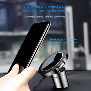 Car Mount With Wireless Charging for iPhone & Samsung