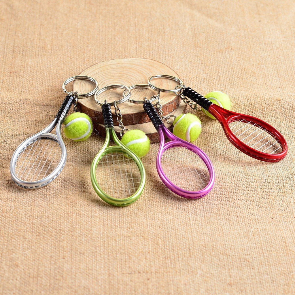 Mini Tennis Racket Pendant Keychain