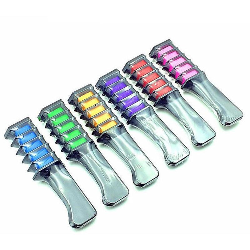 Colorful Temporary Hair Dye Comb