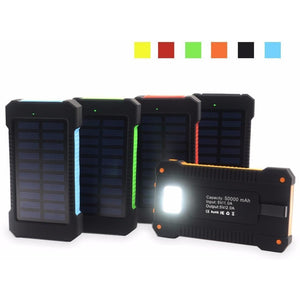 Waterproof Solar Power Bank 10000mAh Dual USB Portable Solar Charger