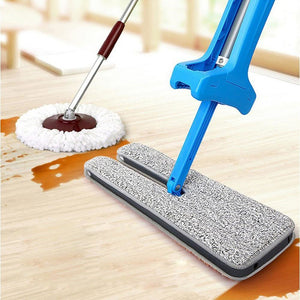 Double Sided Microfiber Self-Wringing Flat Mop