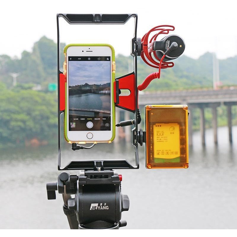 WA Pro-Filmmaking Handle-Rig Stabilizer - All Phones!