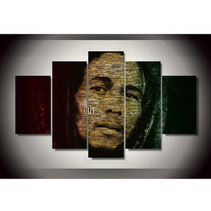 5 PCS BOB MARLEY CANVAS SET