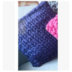 Handmade Chunky Knit Pillow