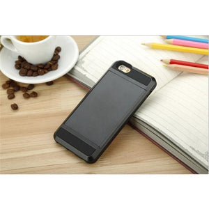 Tough-Armor Hybrid With Card Holder iPhone Case