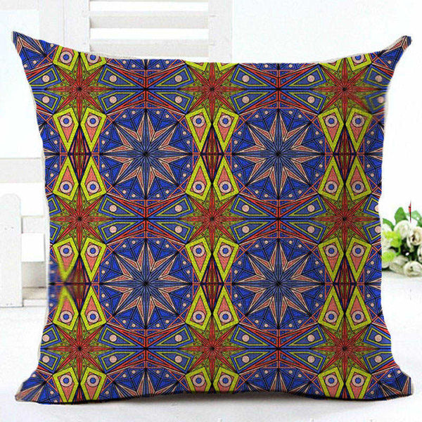 Linen Energetic Patterned Cushion Cover / Pillow Case / Decorative Pillow Cover - Seek The Void