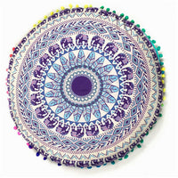 Round Mandala Cushion Cover / Decorative Pillow Cover - Seek The Void