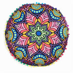Flower Power Round Decorative Pillow/Cushion Cover - Seek The Void