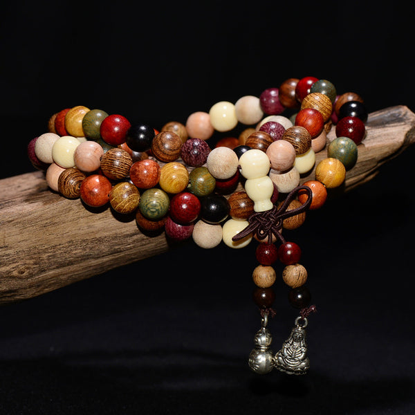 108 Sandalwood Mala Prayer Beads bracelet - 8mm - Seek The Void