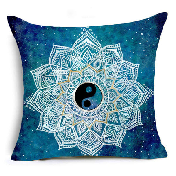 Mandala Geometric Cushion Cover / Pillow Case / Decorative Pillow Cover - Seek The Void