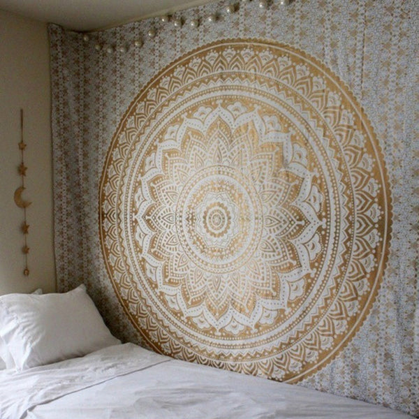 Large Mandala Indian Tapestry Wall Hanging - Seek The Void