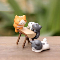 Mini Lucky Cats - Bonsai Garden Decoration - 6 pcs - Seek The Void