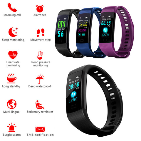 Smart Watch Sports Fitness Activity Heart Rate Tracker Blood Pressure Watch Apr25