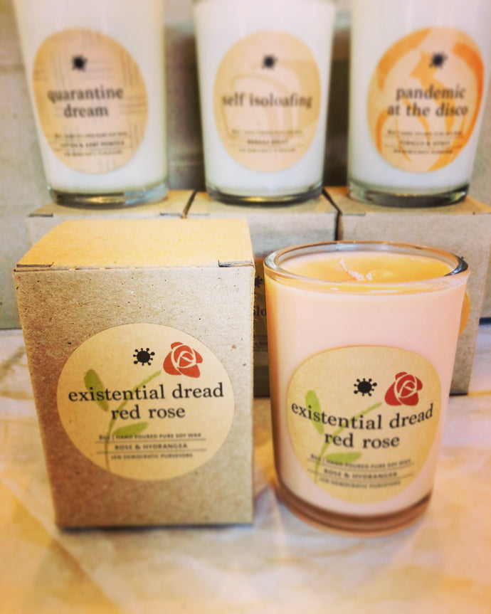 existential dread - red rose - Covid Candle Collection