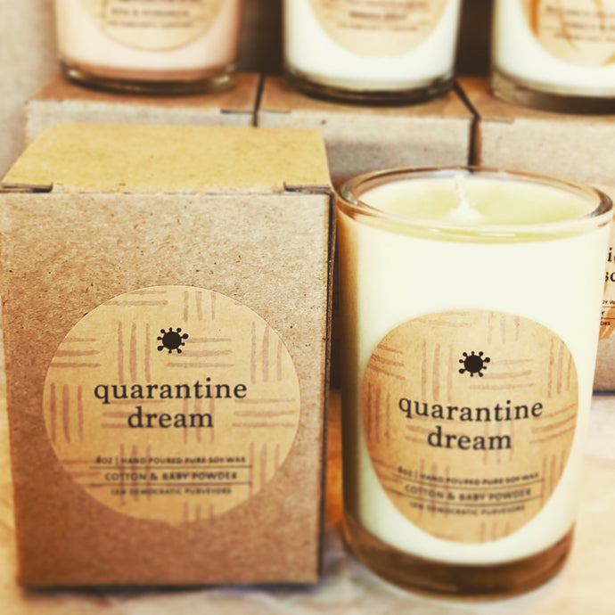 Quarantine Dream - Cotton & Baby Powder Soy Candle